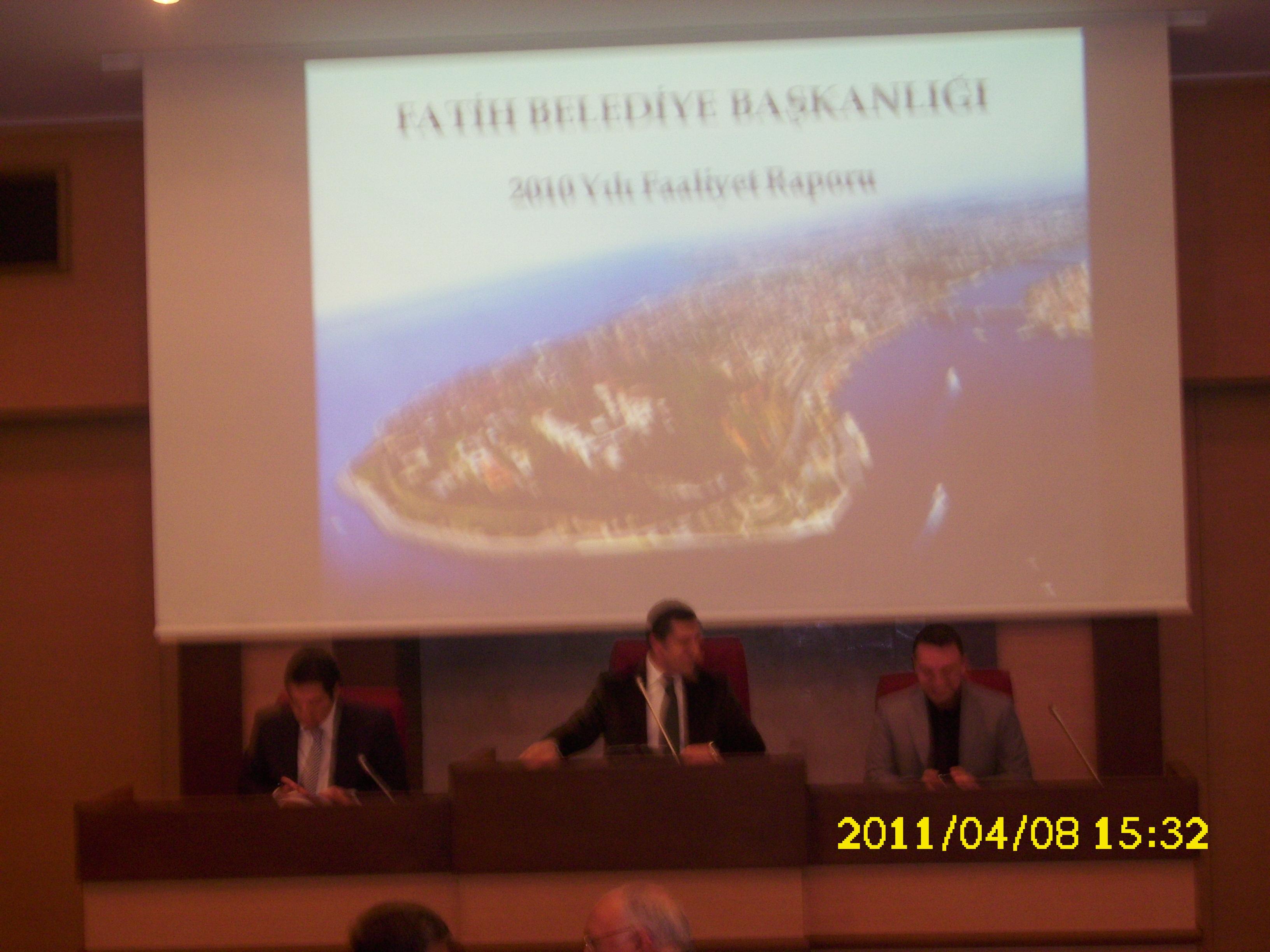 Fatih Belediye Meclisi 2010 Faaliyet Raporu Gündemli