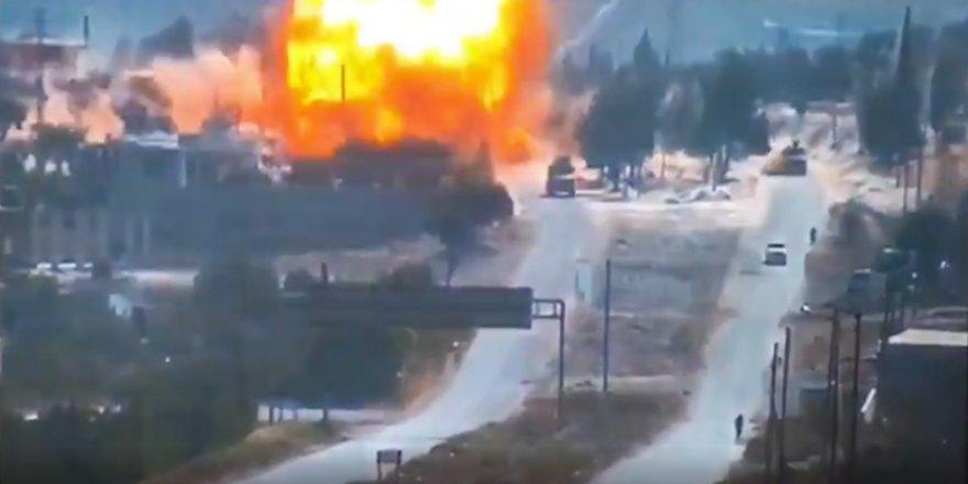 İdlibde Türkiye-Rusya Ortak Devriyesine Bombalı