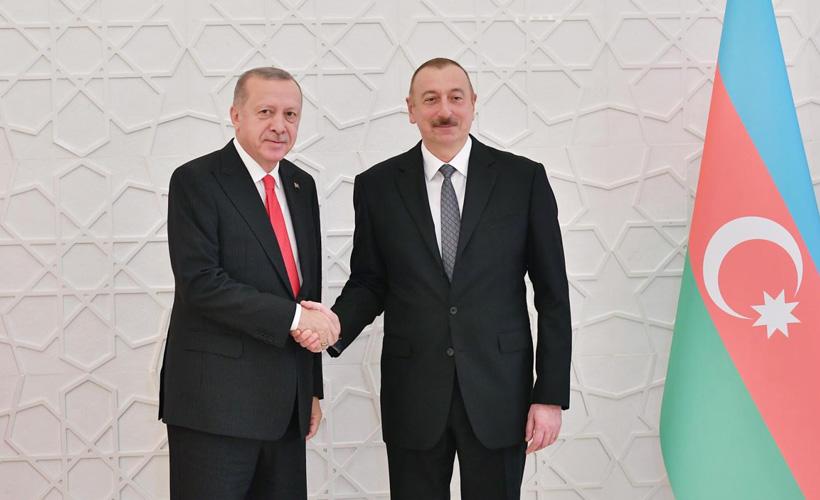 Erdoğan, Azerbaycan lideri Aliyev ile görüştü