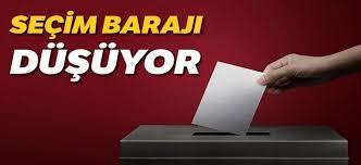 Seçim barajının yüzde 7 önerilmesi kesinleşti