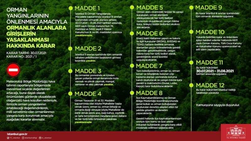 İstanbul dahil toplam 30 ilde ormana giriş yasağı