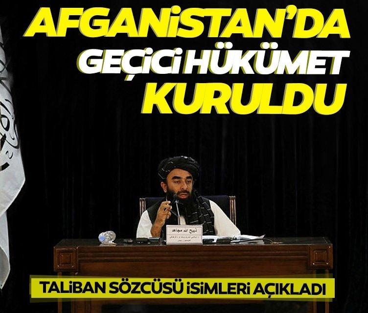 Taliban Sözcüsü yeni hükümeti açıkladı