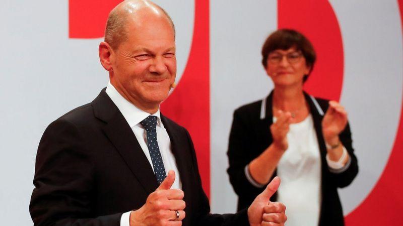ALmanyada Sosyal Demokratlar seçimleri kazandı