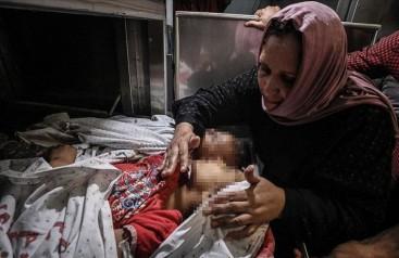 İsrail Gazzedeki güvenlik merkezlerini yoğun bombardımana