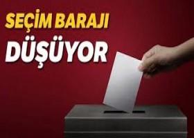 Seçim barajının yüzde 7 önerilmesi