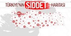 İşte Türkiyenin Şiddet Haritası