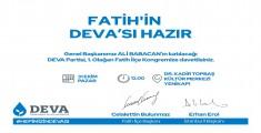 Deva Partisi Fatih ilçe teşkilatı ilk kongresini yapıyor.